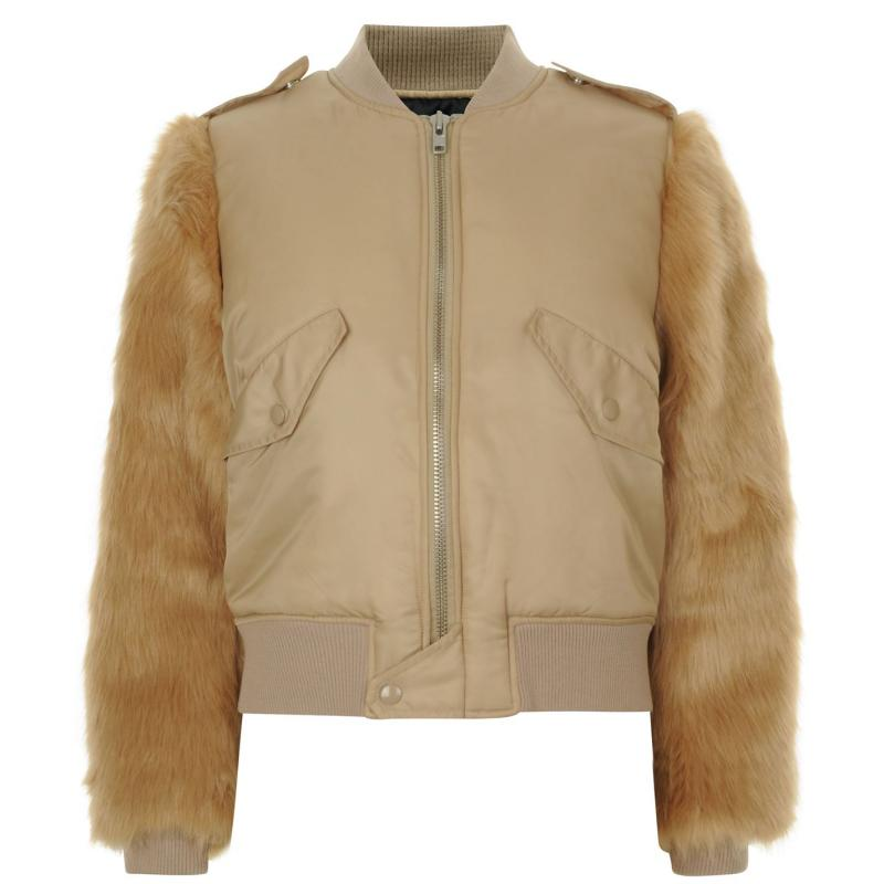Kendall and Kylie Bomber Jacket Nude