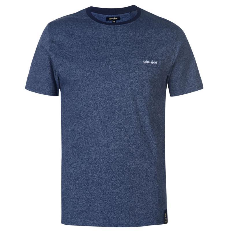 Tričko Gio Goi Goi Pocket T Shirt Mens Blue