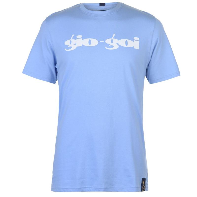 Tričko Gio Goi Print T Shirt Grey Marl