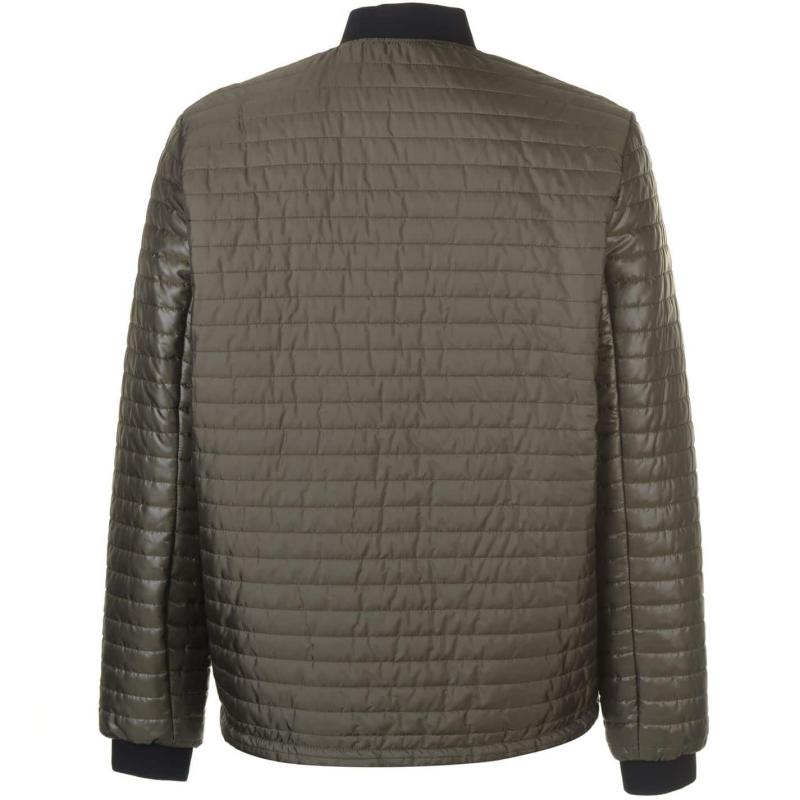 Pierre Cardin Bubble Bomber Jacket Mens Khaki