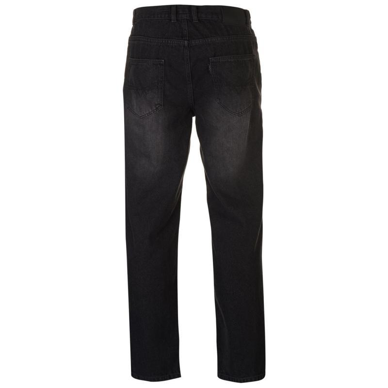 Pierre Cardin Regular Fit Straight Jeans Mens Washed Black