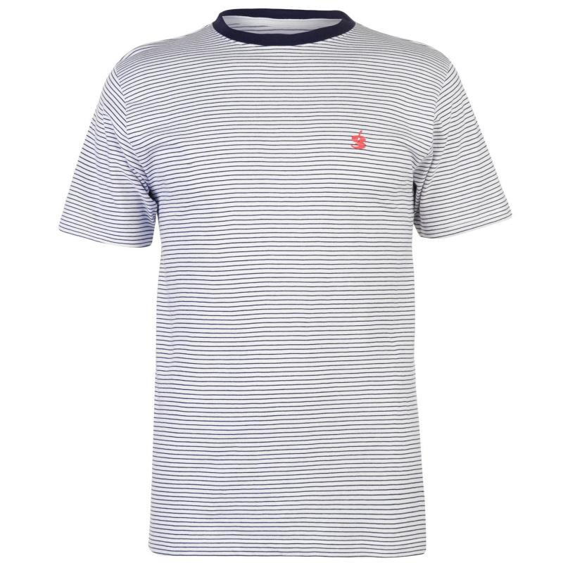 Tričko Gio Goi Yarn Dye Stripe T Shirt Navy