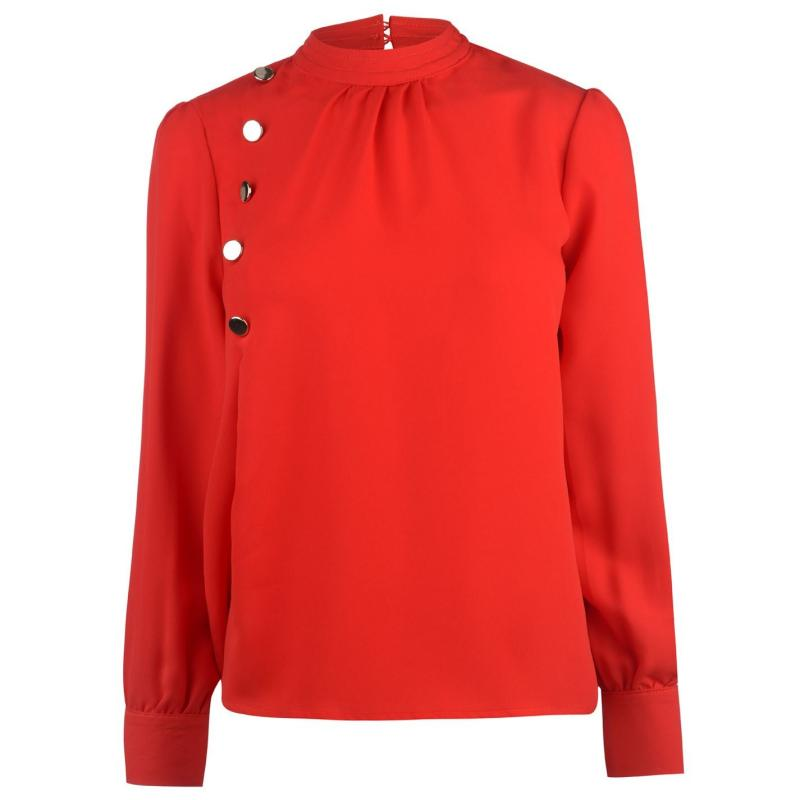 Košile Full Circle Button Blouse Ladies Red