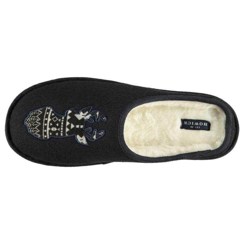 Howick Howick Stag Mens Slippers Navy