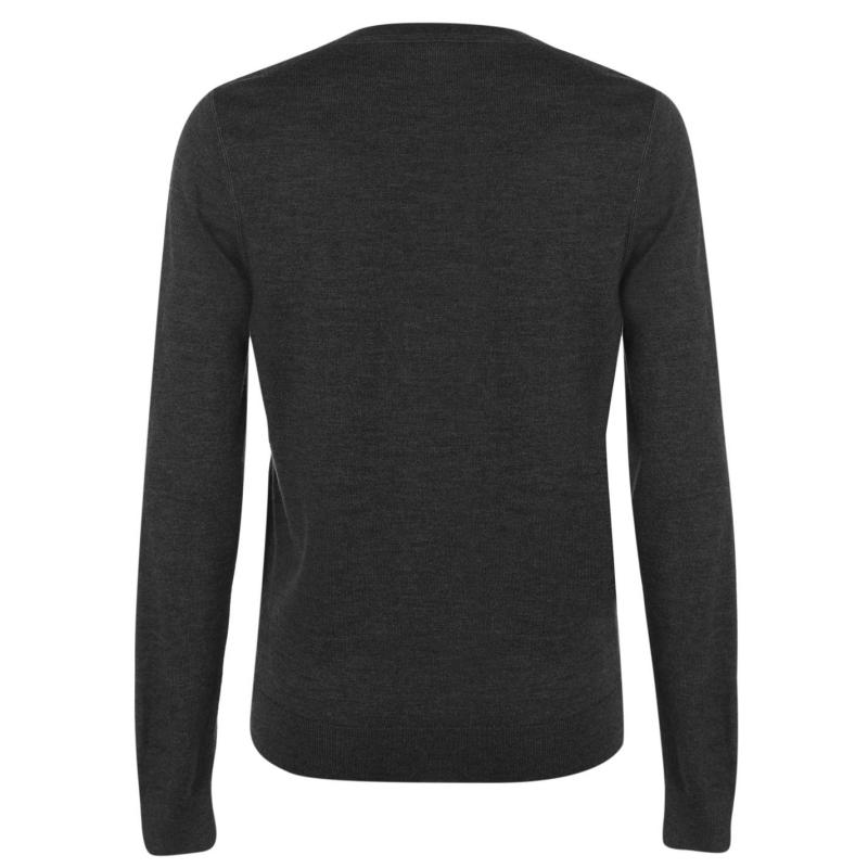 Lacoste V Neck Jumper Grey