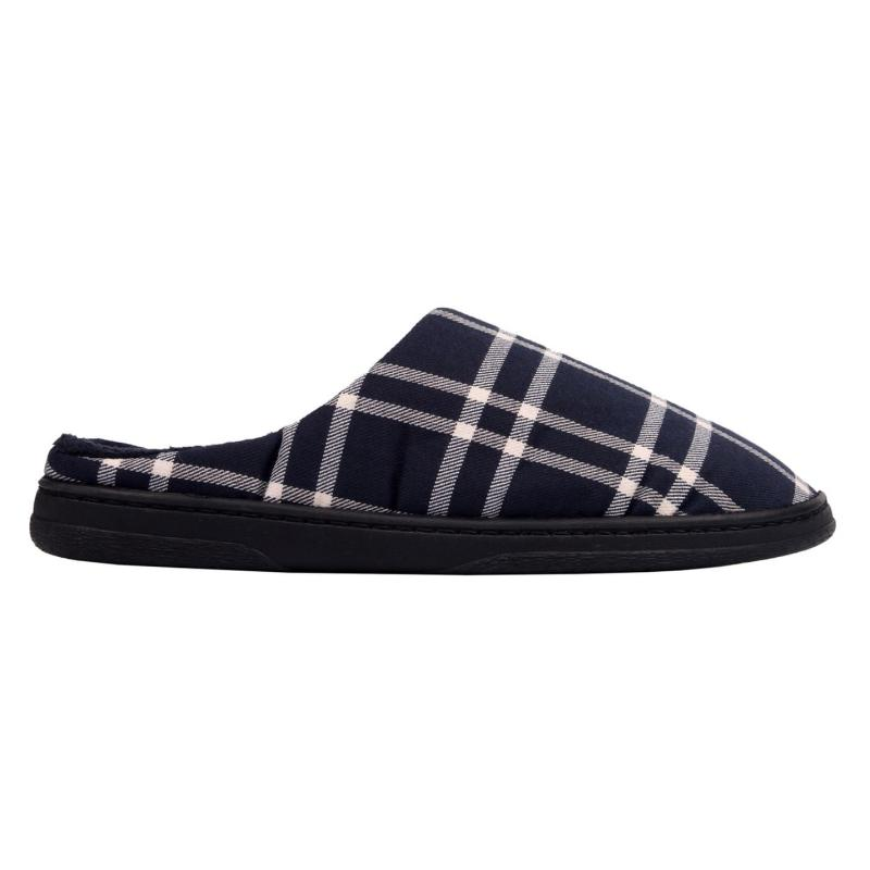 SoulCal Cruz Mule Slippers Navy Check