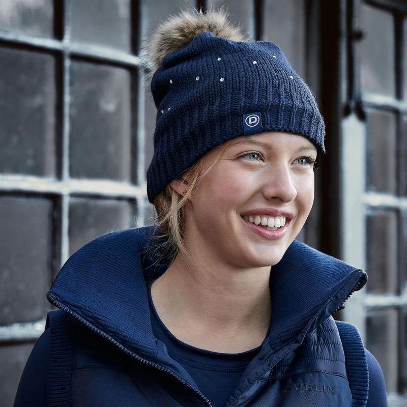 Dublin Sparkle Beanie Hat Ladies Plum