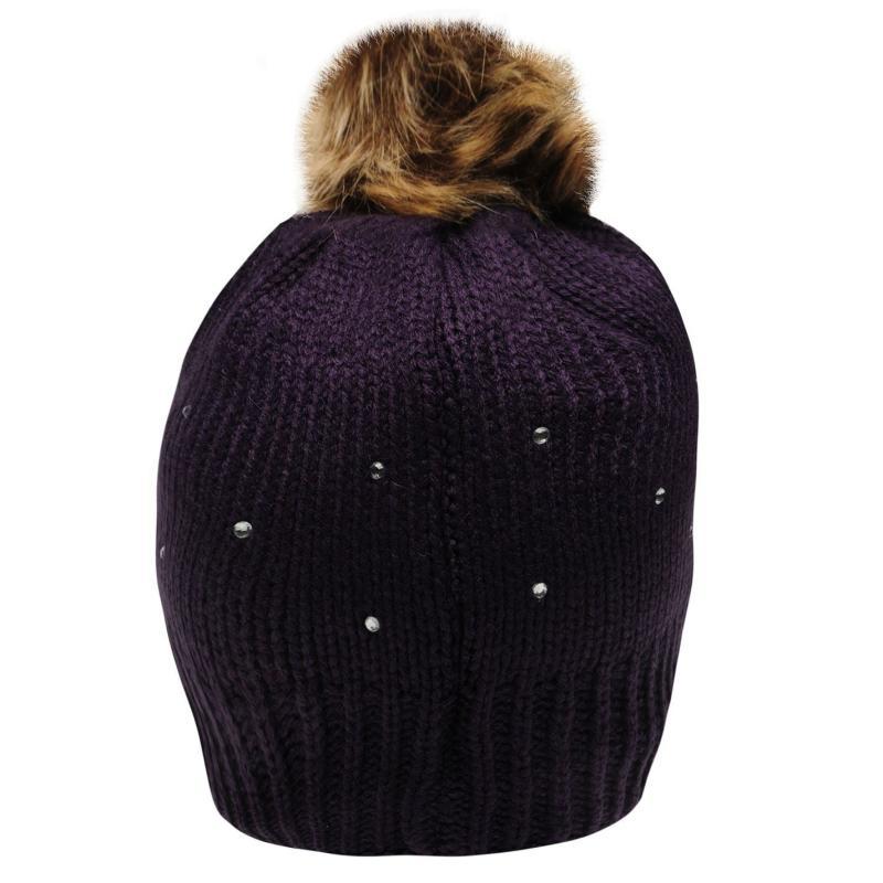 Dublin Sparkle Beanie Hat Ladies Navy