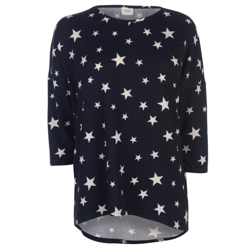 JDY Sleeveless Logo Print T Shirt Ngt Sky/Stars
