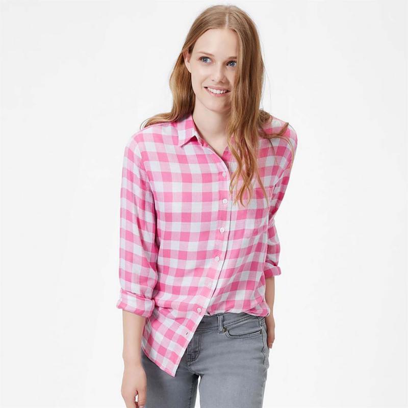 Košile Joules Laurel Shirt Pink Check