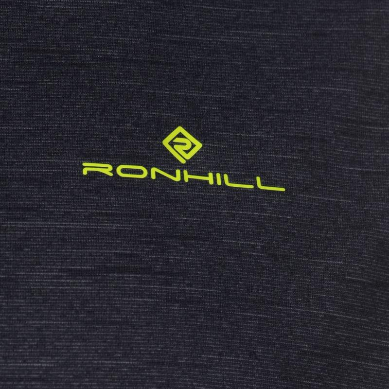 Ron Hill Hill Stride Half Zip Running Jacket Mens Charcoal/Yellow