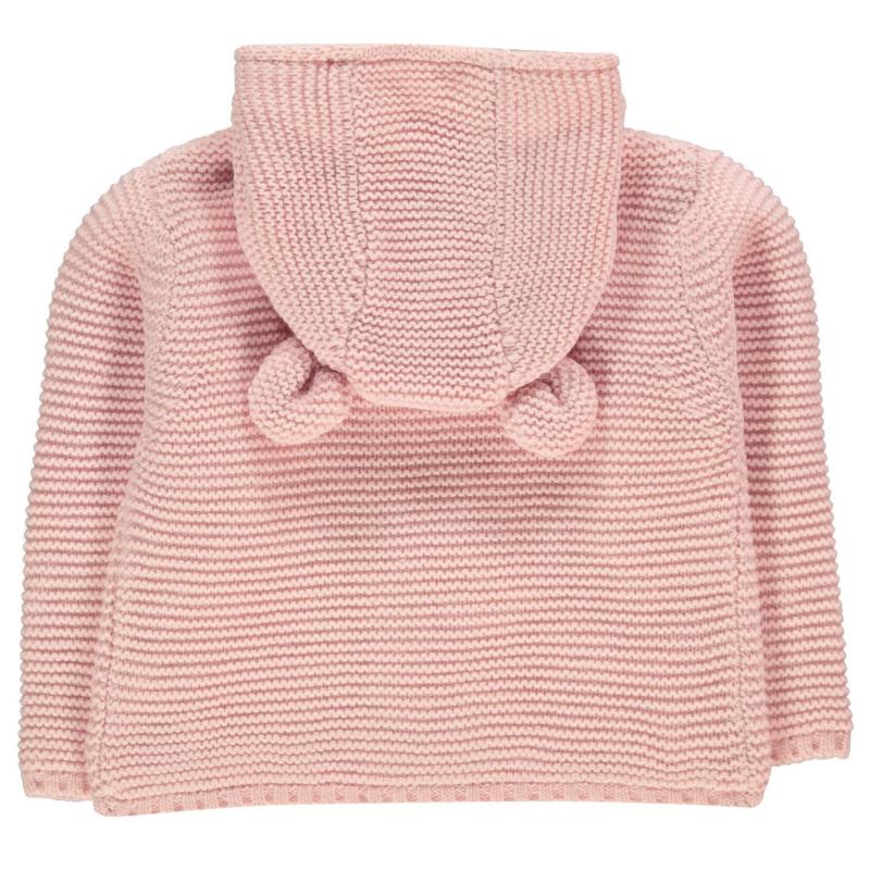 Crafted Mini Bear Cardi Infant Girls Pink Bear Girls Velikost - 0-3 měsíce