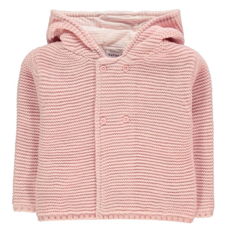 Crafted Mini Bear Cardi Infant Girls Pink Bear Boys Velikost - 0-3 měsíce