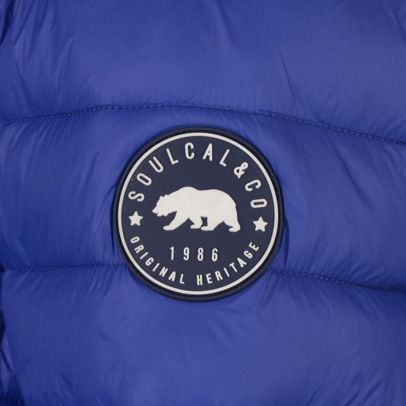 SoulCal Micro Bubble Jacket Mens Blue
