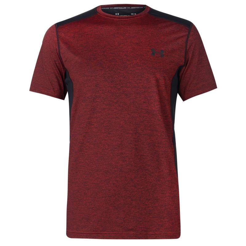 Tričko Under Armour Raid Short Sleeve Training T Shirt Mens Red/Black
