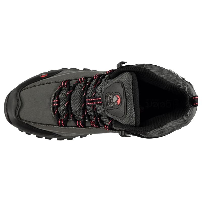Gelert Softshell Mid Ladies Walking Boots Charcoal/Coral