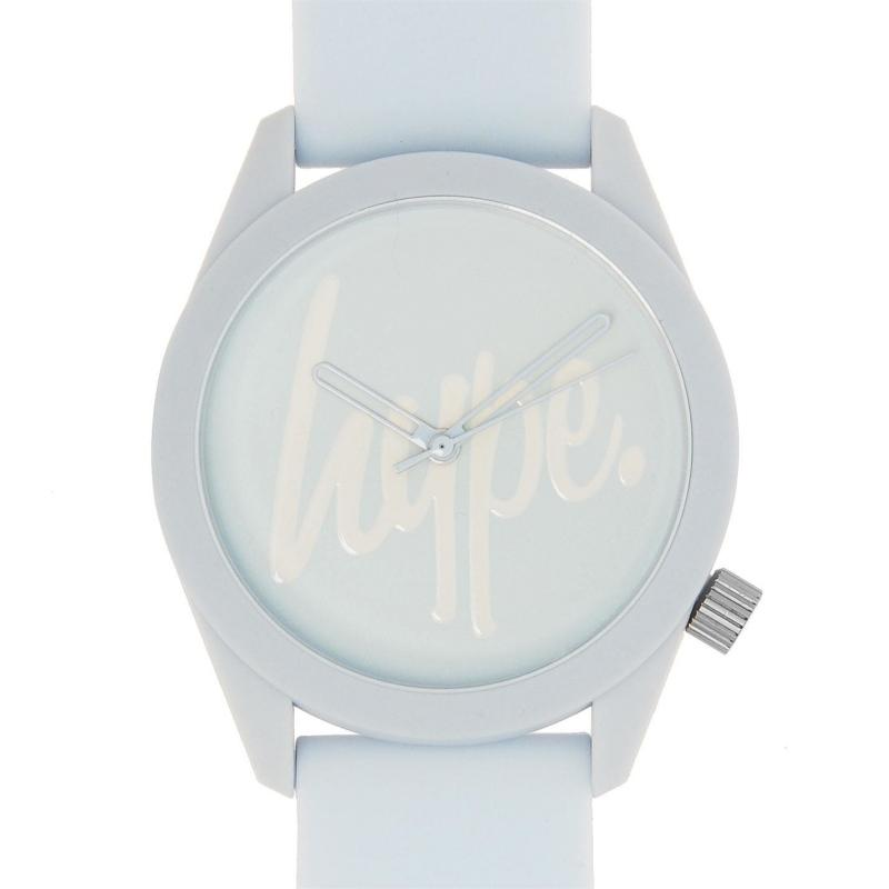 Hype Silicone Strap Watch Pale Blue