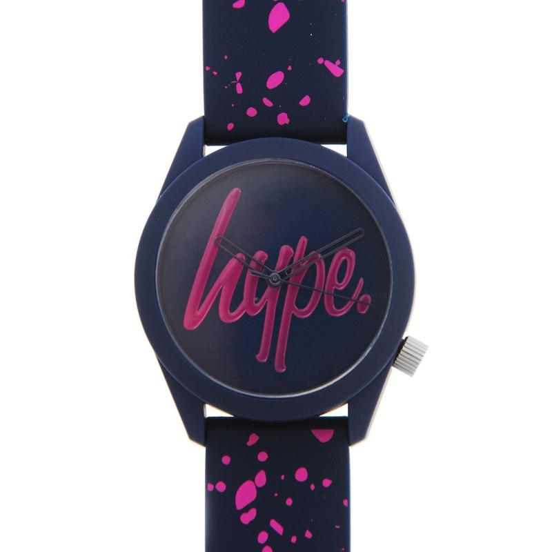 Hype Silicone Strap Watch Navy/Pink