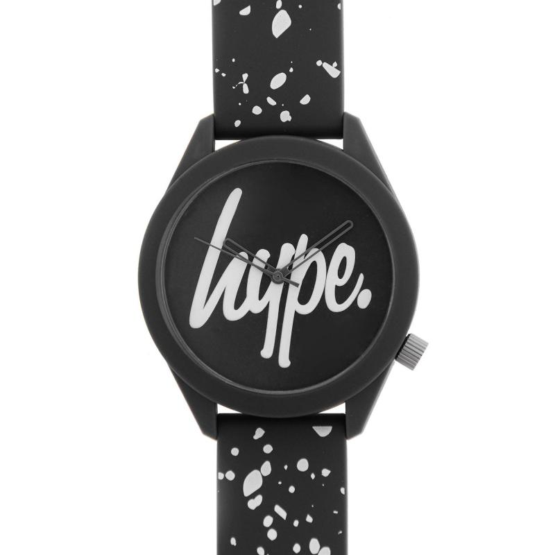 Hype Silicone Strap Watch Grey/White