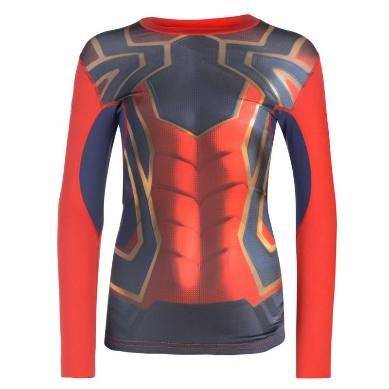 Marvel Sondico Long Sleeve Baselayer T Shirt Junior Boys Spiderman