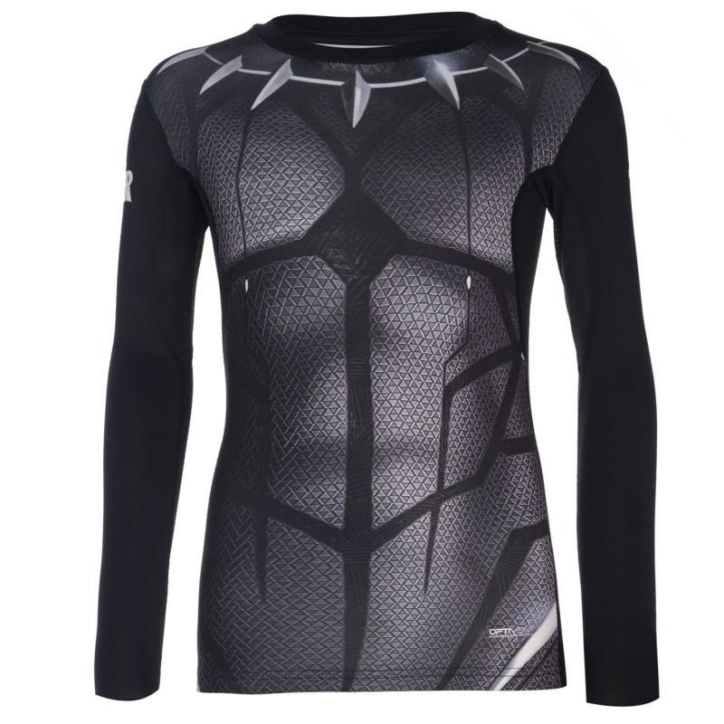 Spodní prádlo Marvel Sondico Long Sleeve Baselayer T Shirt Junior Boys Black Panther