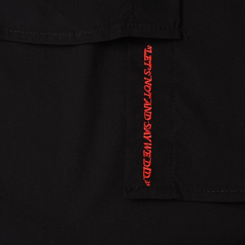 Košile Kendall and Kylie Button Up Shirt Black BLK