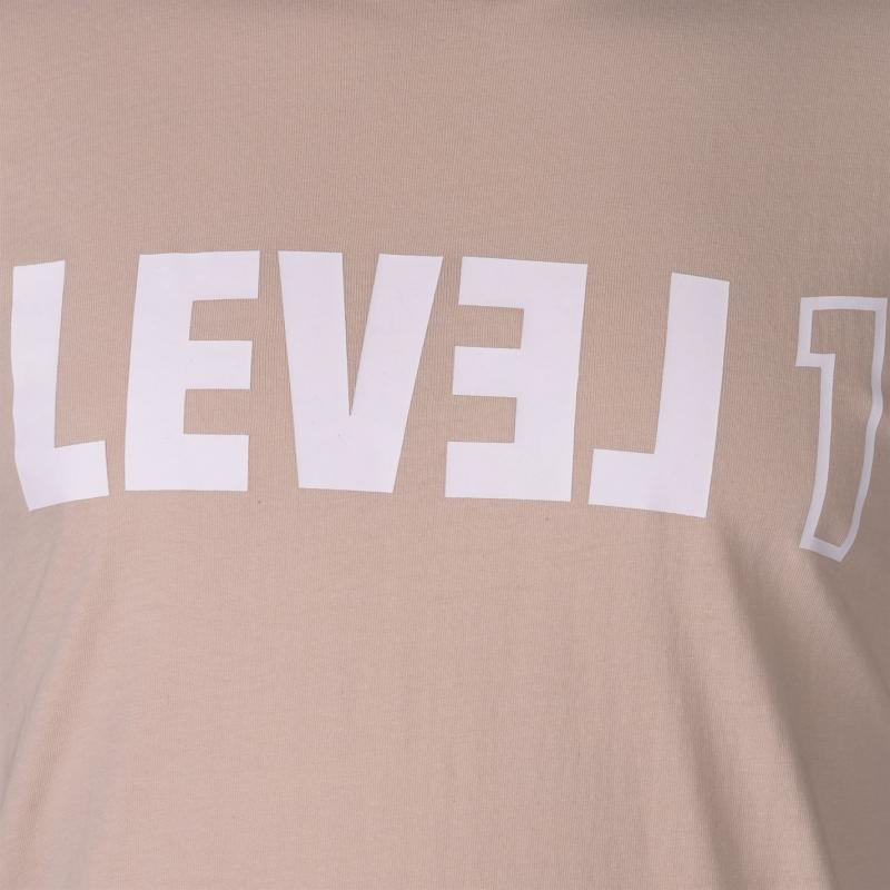 Tričko Level 1 Destruct Long Sleeve T Shirt Mens Gray Moth
