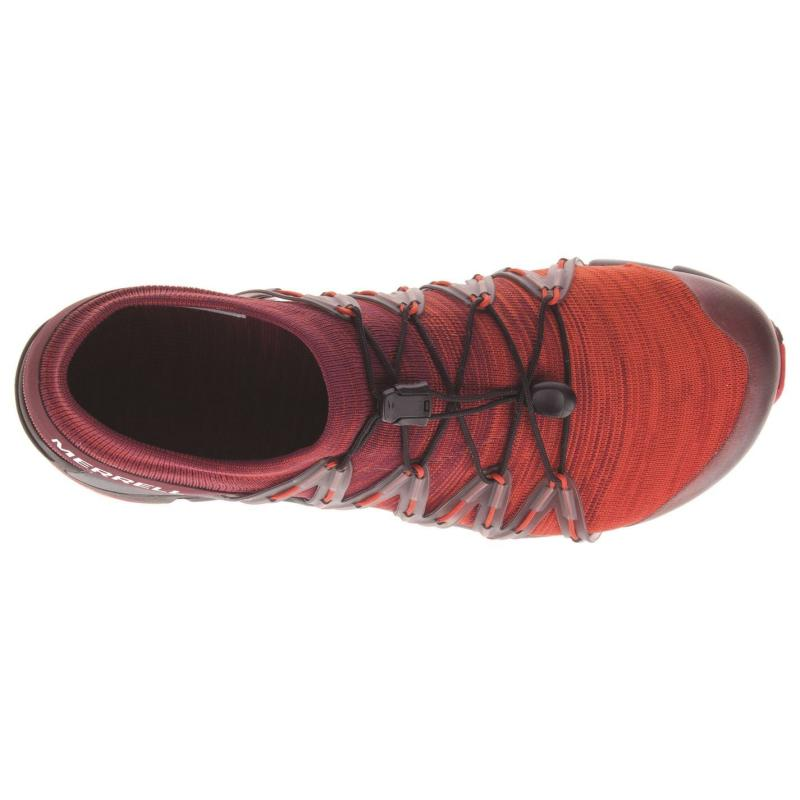 Merrell Bare Access Flex Knit Mens Barefoot Running Shoes Red