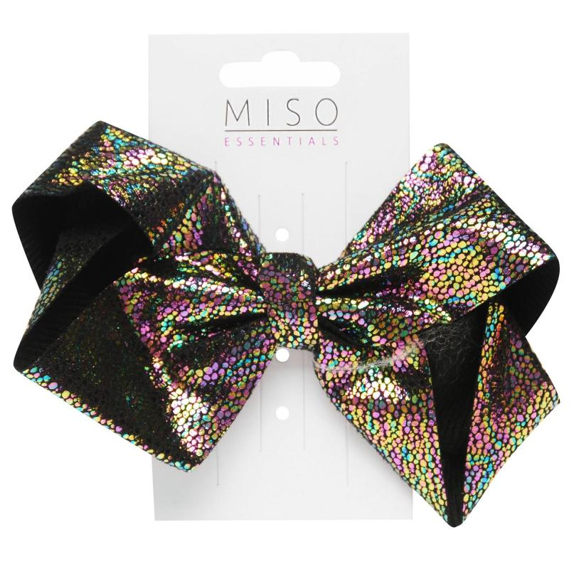 Miso Iridescent Junior Girls Bow Black