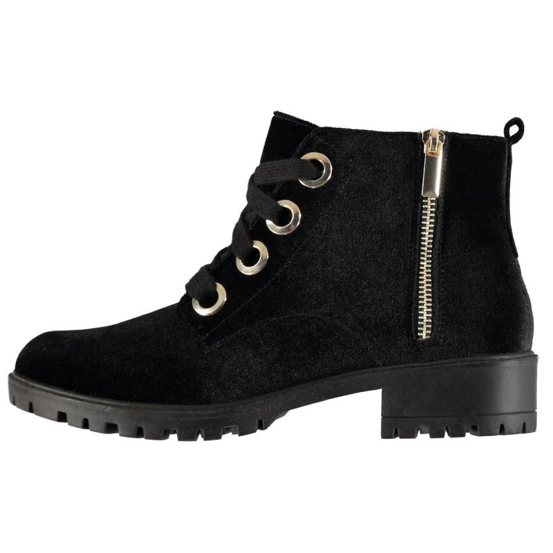 Miso Pisco Lace Ladies Boots Black