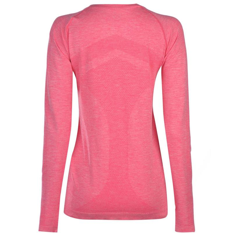 Ron Hill Infinity Long Sleeve Top Ladies Pink Marl