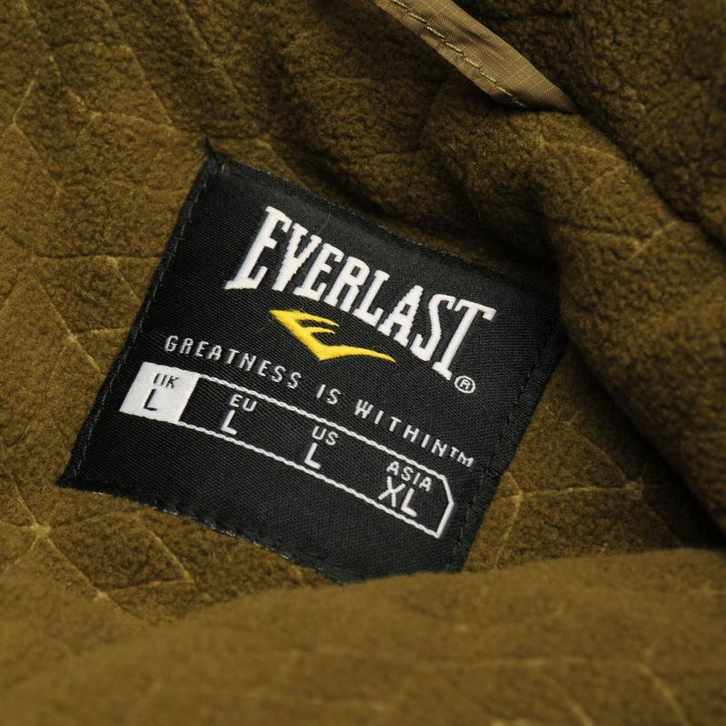 Everlast Lined Zip Jacket Mens Khaki/ Khaki M