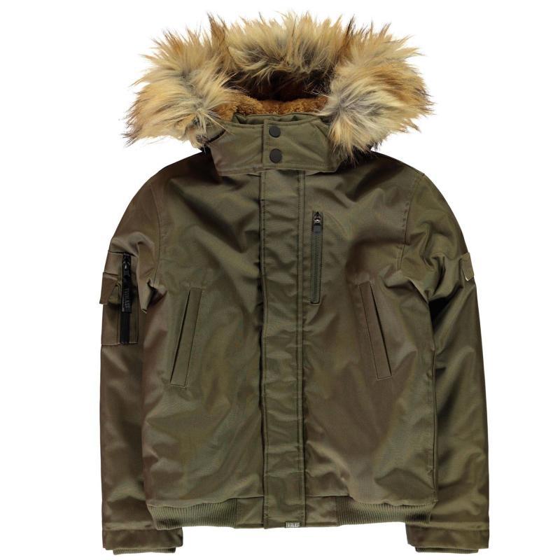 Bunda Everlast Urban Bomber Jacket Junior Boys Khaki