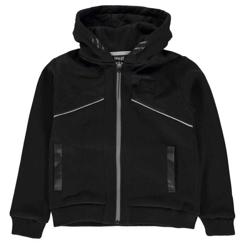 Mikina Everlast Premium Full Zip Hoody Junior Boys Black