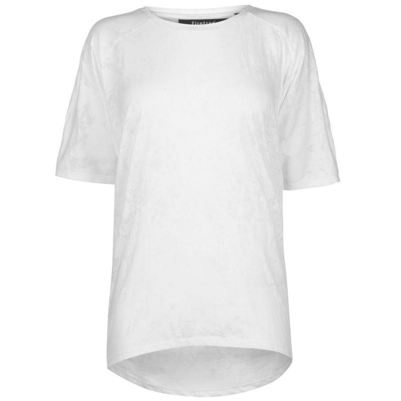 Tričko Firetrap Lucy T Shirt Ladies White Burnout