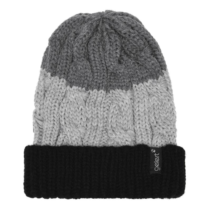 Gelert Cable Knit PomPom Beanie Juniors Black/Grey