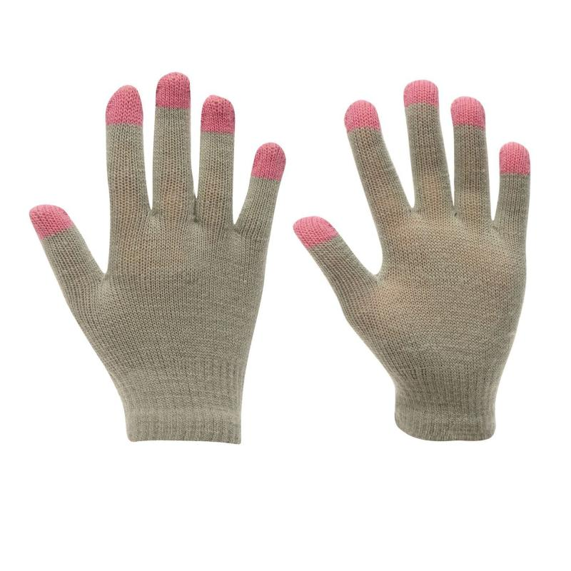 Gelert Magic Glove Juniors Girls Grey/Pink