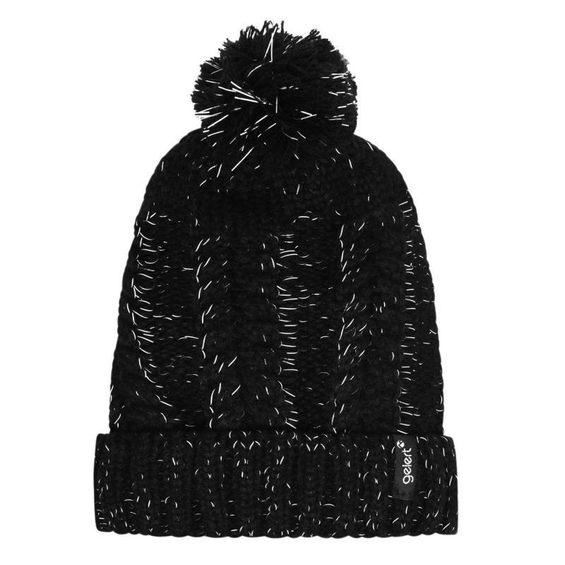 Gelert Reflective Pompom Hat Mens Black