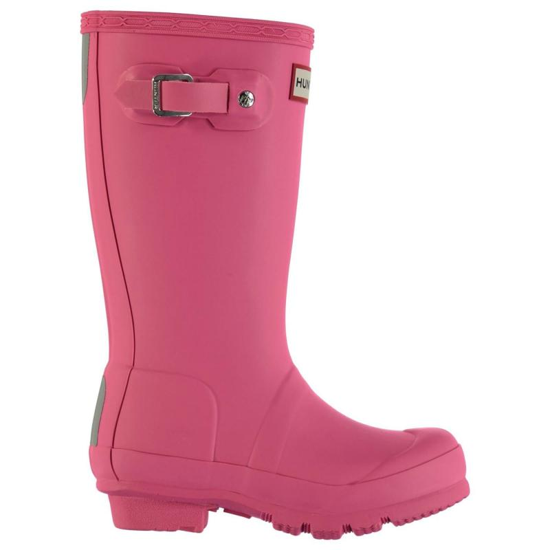 Hunter Original Kids Wellington Boots Bright Pink