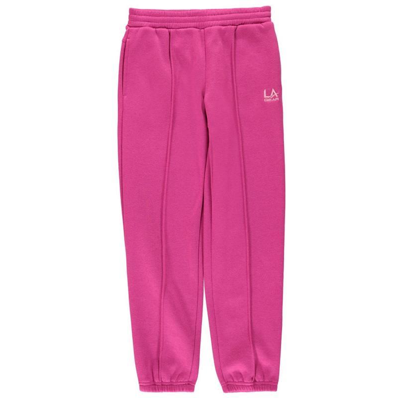 LA Gear Closed Hem Jog Pant Girls Charcoal Marl
