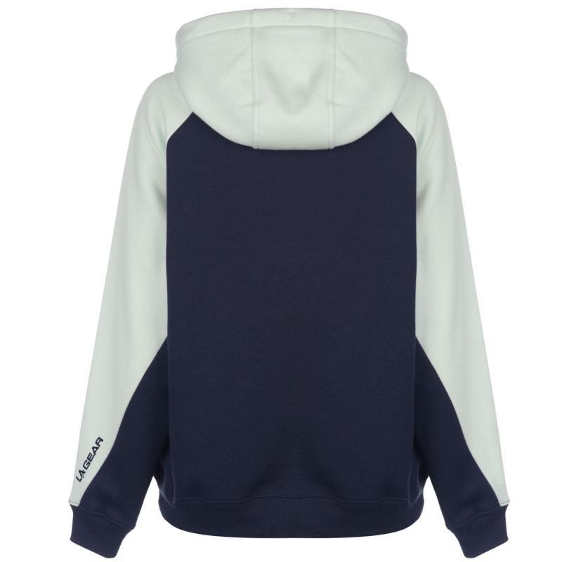 Mikina s kapucí LA Gear Cut and Sew OTH Hoody Ladies Charcoal/Purple