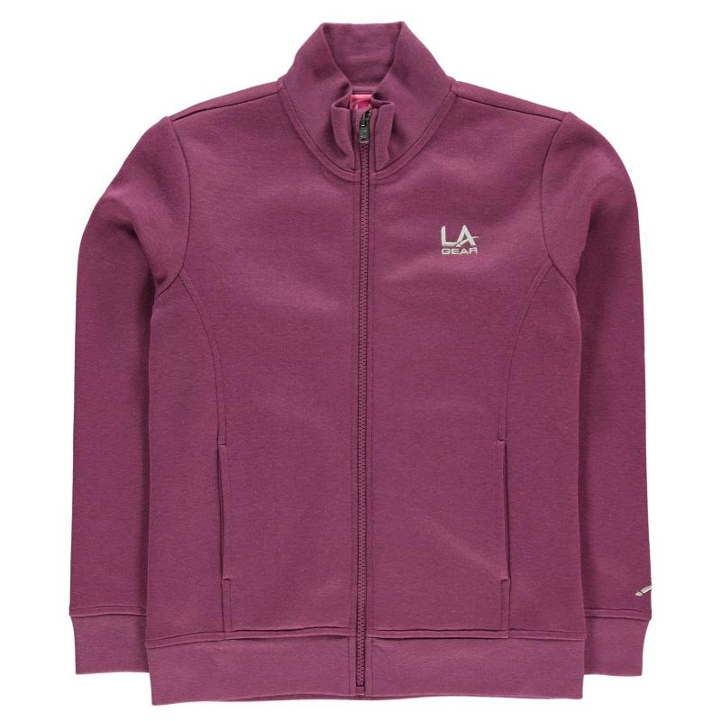LA Gear Full Zip Fleece Junior Girls Purple