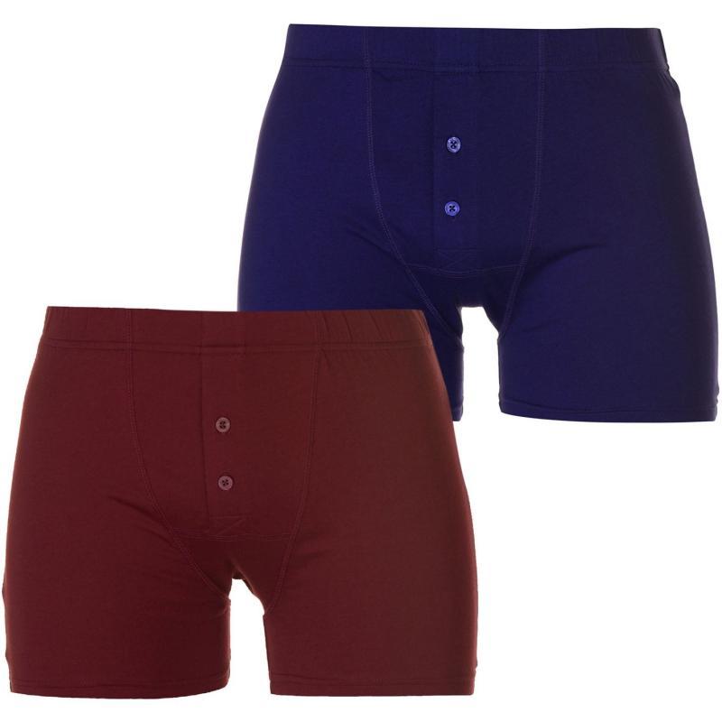 Spodní prádlo Slazenger 2 Pack Boxers Mens Zinfand/Astral