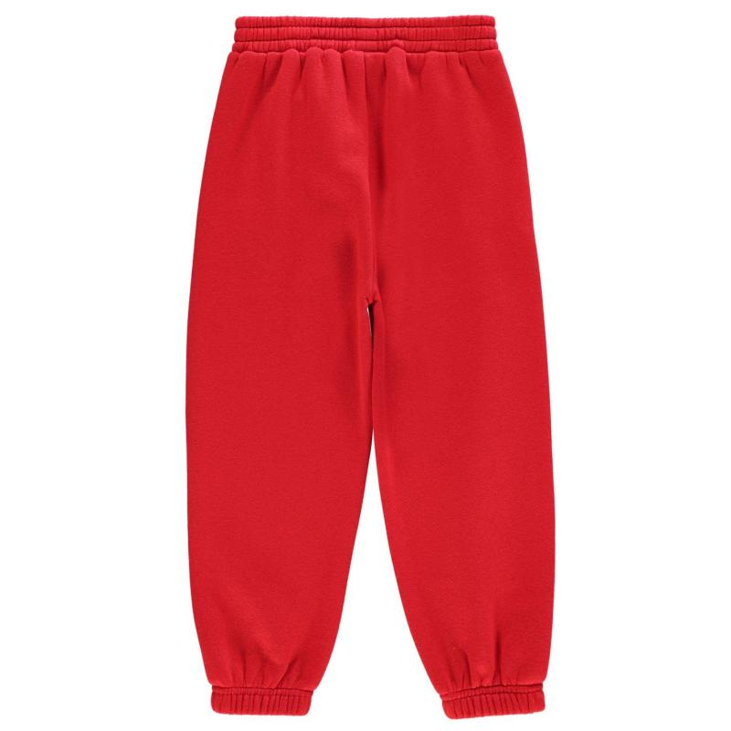 Tepláky Slazenger Closed Hem Fleece Pants Infant Boys Red