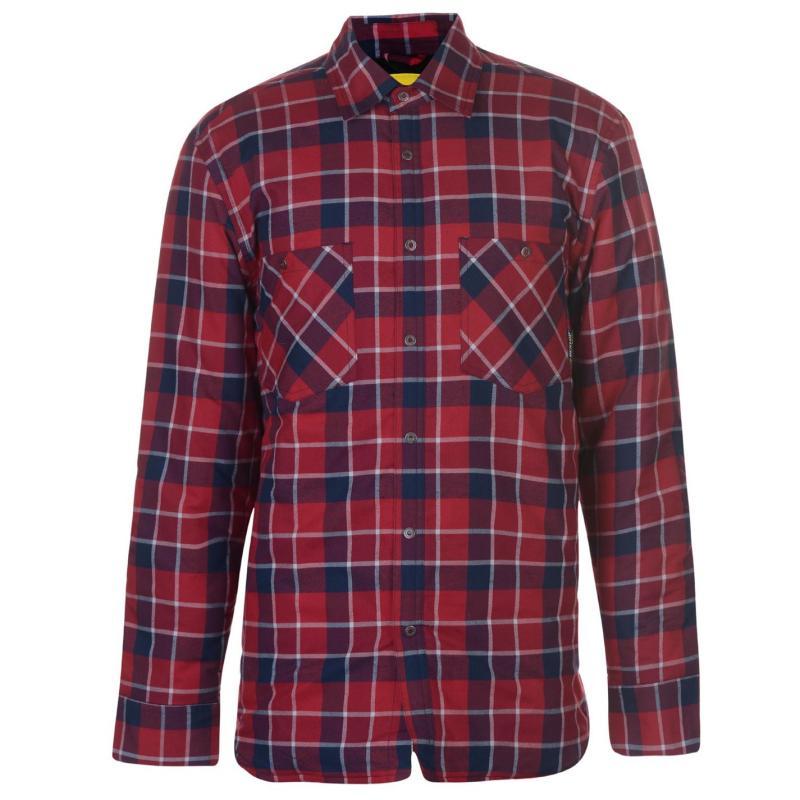 Dunlop Flannel Shirt Mens Red/Blue
