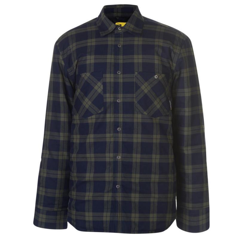 Dunlop Flannel Shirt Mens Navy/Khaki