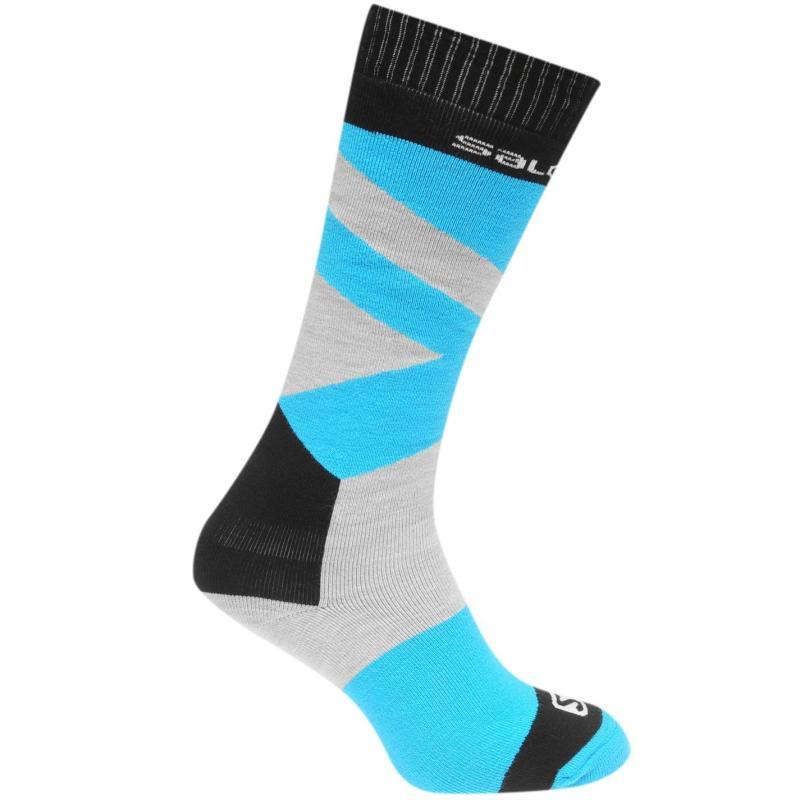 Salomon Team Socks Junior Girls Grey/Blue