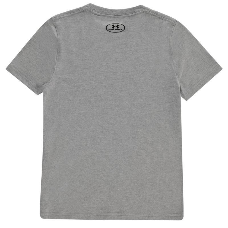 Tričko Under Armour Charged Cotton T Shirt Junior Boys Grey