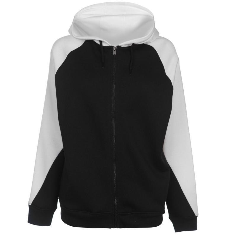 Mikina LA Gear Cut and Sew Full Zipped Hoody Ladies Black/White