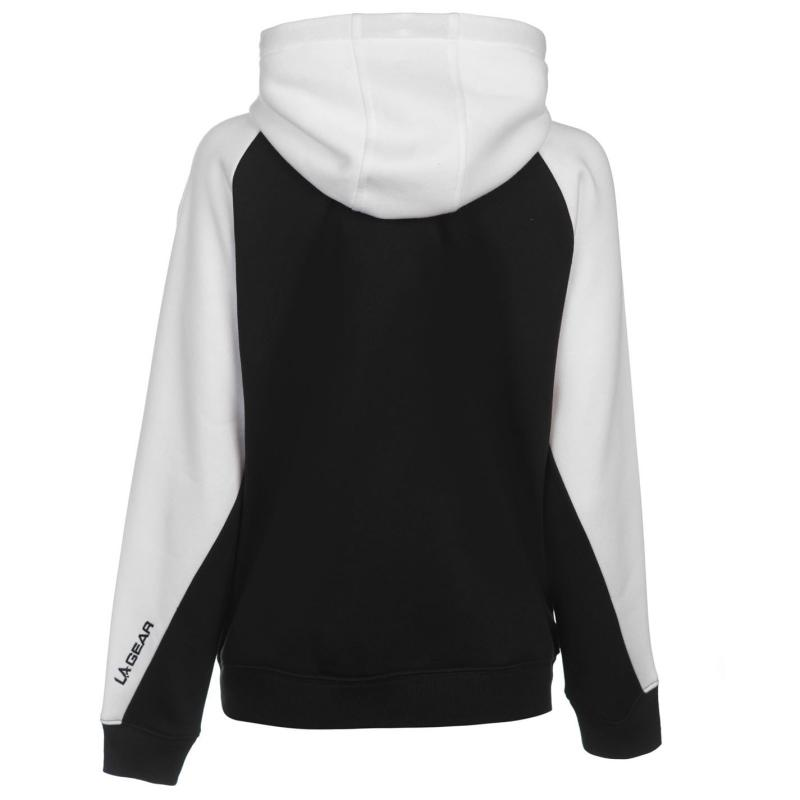 Mikina LA Gear Cut and Sew Full Zipped Hoody Ladies Black/White